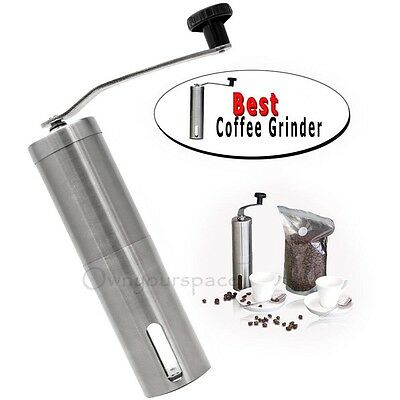 Adjustable Manual Coffee Bean Grinder Mill Hand Grinding Kitchen Tool