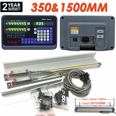 350&1500mm Precision 2 Axis Linear Scales DRO Digital Readout Glass Sensor