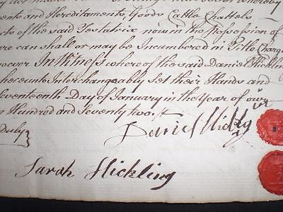 1772 Document, Nottingham & Wax Seals