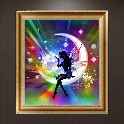 DIY 5D Diamond Embroidery Painting Moon Angel Cross Stitch Craft Home Decor