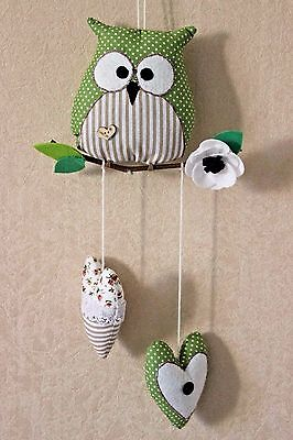 SALE HANDMADE Toot Owl Wall Hanging Home Decor NURSERY Room KIDS Gift Cute Baby