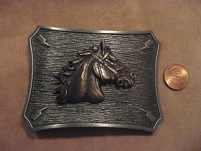 Like to Horse Around? Pewter & Brass Horse Belt Buckle