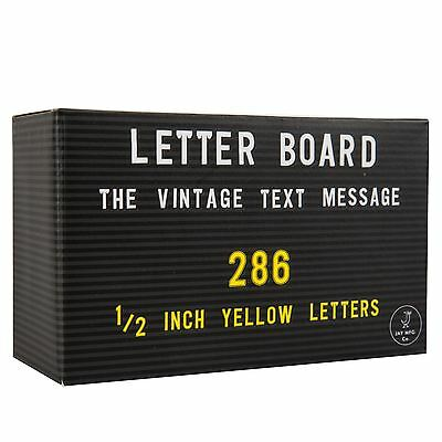 Jay Yellow Letters & Numbers 286 Piece Spare Set for Peg Letter Board
