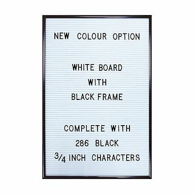 Jay Retro White Peg Letter Message Board with 286 Black Letters & Numbers Large
