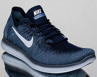 81fcde43985 NIKE FREE RN Flyknit 2017 men running run shoes NEW ocean fog 880843 ...