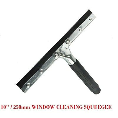 "NEW DOUBLE BLADE -10"" / 250mm WINDOW CLEANING SQUEEGEE HAND HELD CLEANER"
