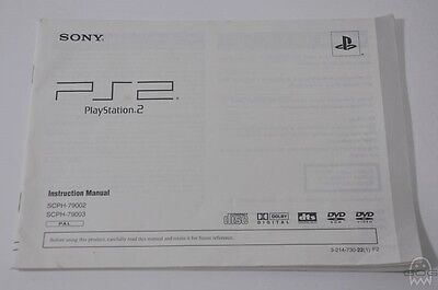 OFFICIAL CONSOLE  MANUAL - SCPH-79002/3 - UK - PlayStation 2 Slim - PS2 - Sony