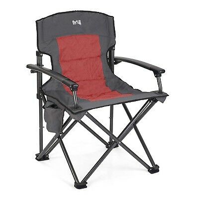 Luxury Folding Camping Chair Padded Outdoor Seat With Pockets Falcon Deluxe