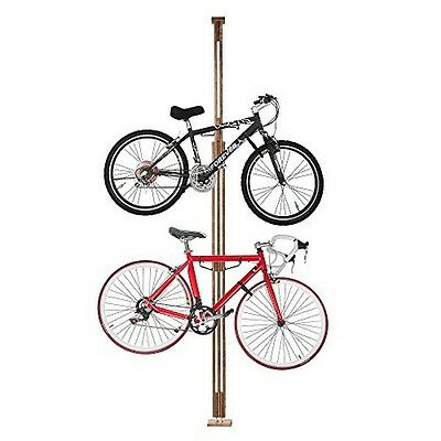 Woody Bike Stand Bicycle Rack Storage or Display Holds Two Bicycles NEW