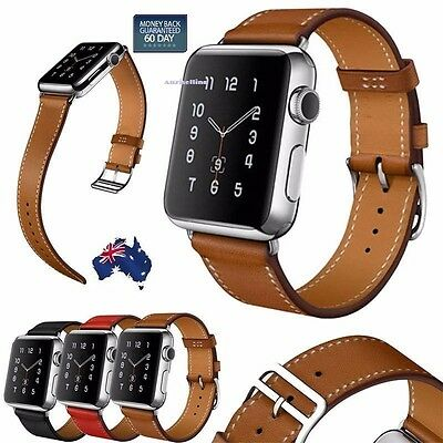 Luxury Leather Single Tour Band Strap Bracelet Belt For iwatch Apple Watch 1/2/3