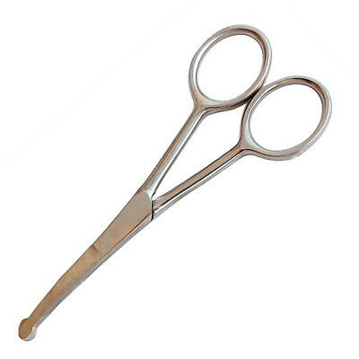 Face and Paw Scissors for Dog , cats and small animals 11.5 CM PROBE CURVED