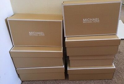 EMPTY Michael Kors Women's Shoe Box Lid Storage Cardboard Gold