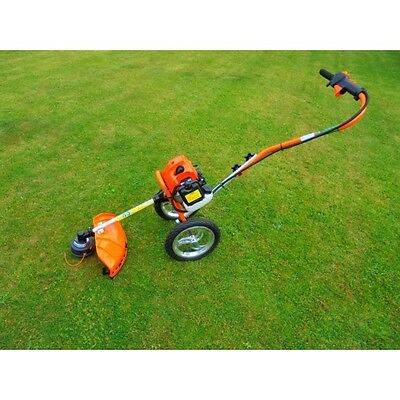 NEW Hornet 43cc wheeled Strimmer brush cutter 2 stroke petrol powered 1.7HP