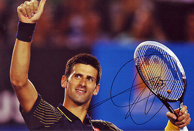Novak Djokovic autograph, In-Person signed 8X12 inches Tennis photo