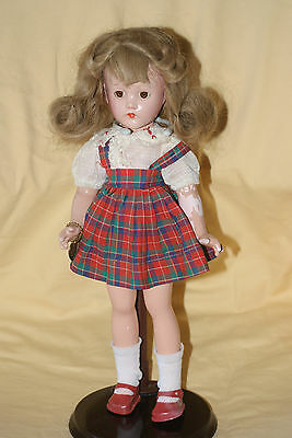"PRETTY Vintage 14"" Effanbee Suzanne Composition Doll Original Dress Human Hair"