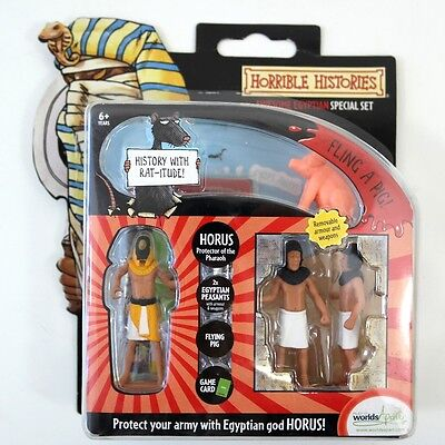 Horrible Histories Awesome Egyptian Special Set With Horus Peasants & Flying Pig