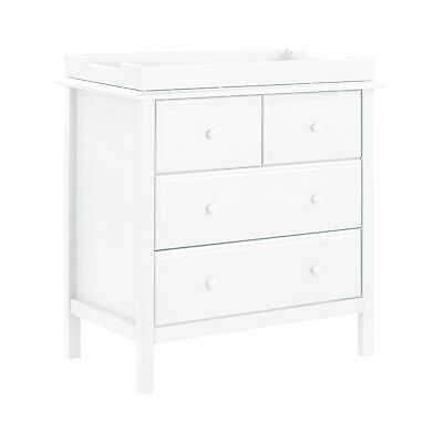 DaVinci Autumn 4 Drawer Dresser White