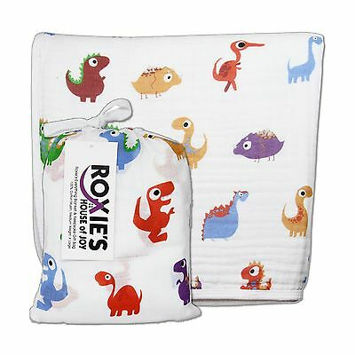 Roxie's Baby Everything Blanket for Crib Stroller Newborn To Toddler Dino