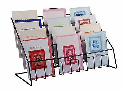 Counter Display Stand For Mixed Sized Greeting Cards, Leaflets, Books & DVD's