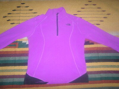 Girl Auth The North Face Purple Pullover Size 14/16/large!nice!