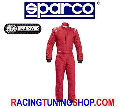 Racing Overal Suit Sparco Fia Sprint Rs2.1 Rot Size 50 Fia 8856-2000 Year 2017