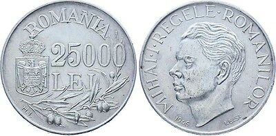 Coin Romania 25000 Lei 1946 Rare Probe Km Pnc283 5000 Usd In Krause Aunc