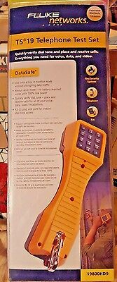 NEW Fluke Networks TS19 Telephone Test Set w/Angled Bed-of-Nails Clips