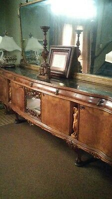 French Buffet burl wood with mirror