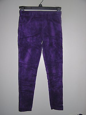 Girl's French Toast Purple Velour Skinny Ribbed Pants Size Youth 7/8