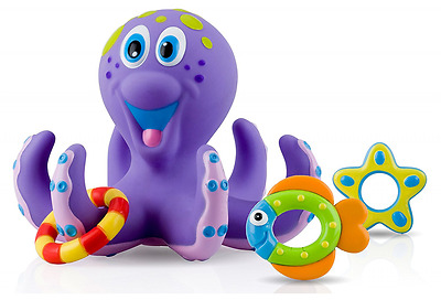 Nuby Octopus Floating Bath Tub Toy (Multi-Coloured) Baby Kids Play Fun Time NEW
