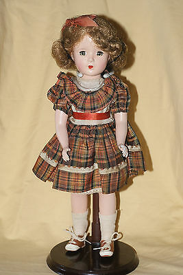 "Vintage 14"" Marked 14 Roberta Hard Plastic Doll Original Outfit"