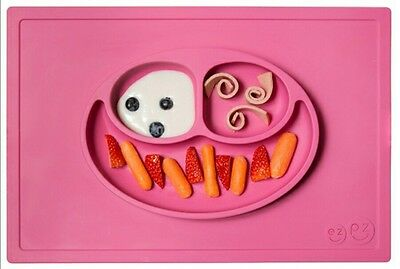 ezpz Happy Mat All In One Silicone Placemat & Plate NIB