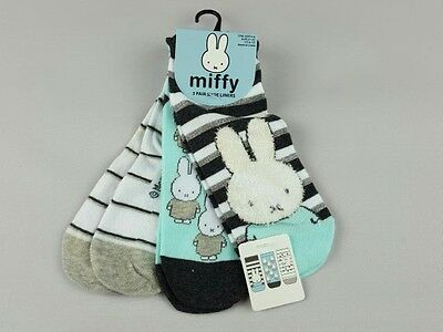 Miffi  Ladies Socks Size 4-8 Eur. 37 -42  3 - Pack  New