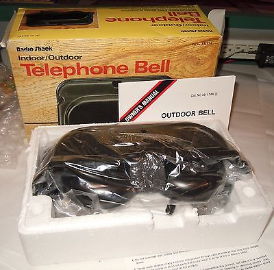 Radio Shack Indoor / Outdoor Telephone Bell New in Box Great for workshop / yard
