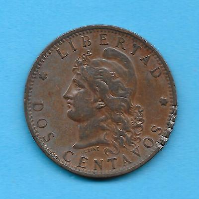 1884 - ARGENTINA - 2 CENTAVOS - Diameter: 30mm -   =OVER 130 YEARS OLD=