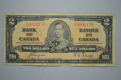 1937 Canada $2. Note Bank of Canada Bill-Currency (no62)