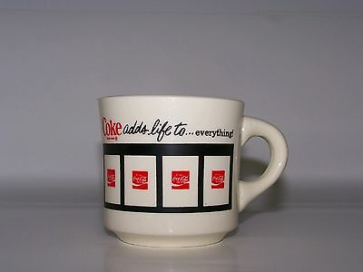 Coca Cola Vintage Mug Coke Coffee Glass Mugs CupHandle Collectible Ceramic USA