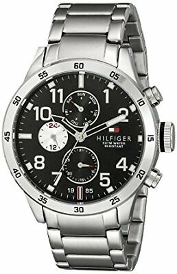 Tommy Hilfiger Men's Black Dial Stainless Steel Watch 1791141