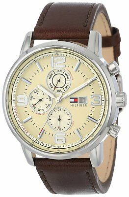 Tommy Hilfiger Men's Brown Leather Tachymeter Watch 1710337