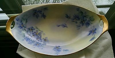Antique Flower Bowl with Gold Trim and open ends.  Beautiful!