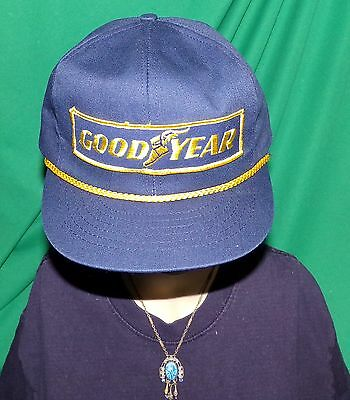 Goodyear Embroidered Hat Baseball Cap Hat Vintage 30+ Year old RARE Hat