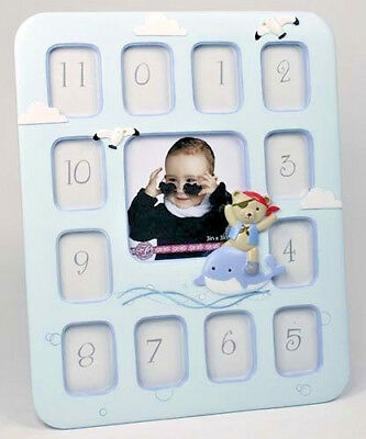 BABY Boy Teddy Prince 1st Year 12 Month PHOTO FRAME COLLAGE Birthday Newborn