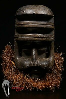 Discover African Art: Bete Gre or Nyabwa Mask from Ivory Coast on Custom Stand