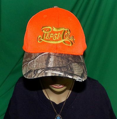 Pepsi Cola Sportsman hat, Small defect low price, Embroidered Baseball Cap