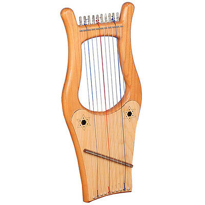 Muzikkon Ireland Kinnor Harp, 10 String Mini Kinnor Harp, King David Harp