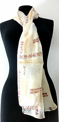 Wholesale Casual Cream Colored Aztec Scarves / Neck Ties Brand New (Mz21)