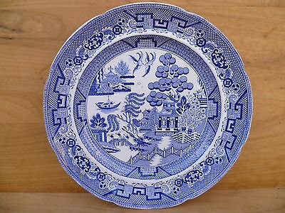 Vintage Old Large Size 'stone China' Rw&b Blue & White Pappern, Dish Plate (D765