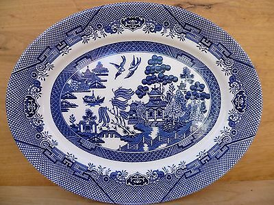 New Style Blue & White Willow, Serving Dish Platter, 'churchill' (D767)