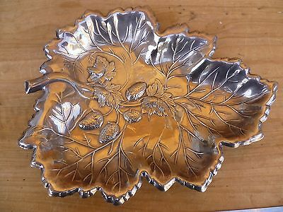 Old Silver Plate Leaf Pattern, 'decorative' Serving Tray, Platter (D770)