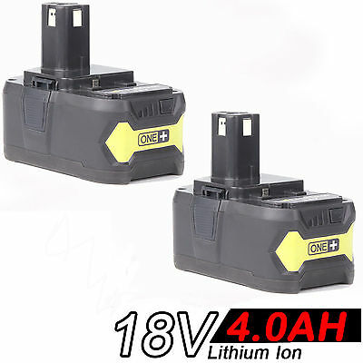2x 4.0AH 18V Li-ion Battery for RYOBI One Plus RB18L25 RB18L50 P108 P107 P104